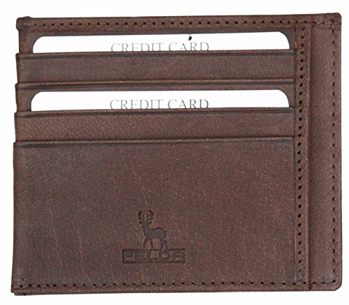 Felda - Herren Geldbörse aus Leder für Karten & Geldscheine - Schmal - Mit Geschenkschachtel
