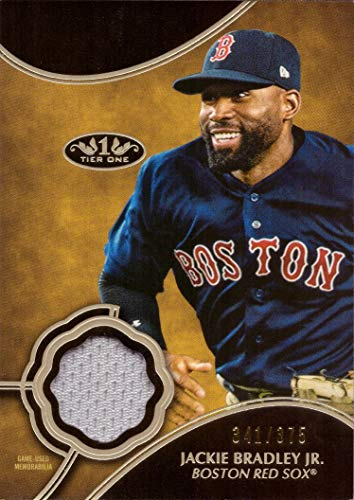 2019 Topps Tier One Relics #T1R-JBJ Jackie Bradley Jr. Game Worn Red Sox Jersey Baseball Card - Only 375 made!