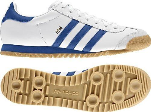adidas ROM, Herren Sneaker Weiß WeißBlau, Weiß WeißBlau