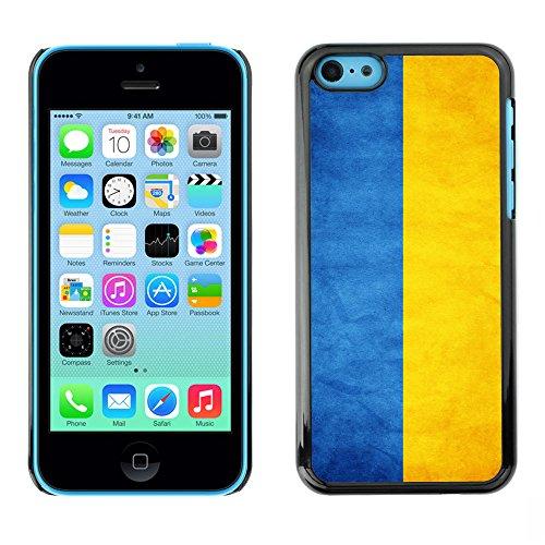 Omega Case PC Polycarbonate Cas Coque Drapeau - Apple iPhone 5C ( Ukraine Grunge Flag )