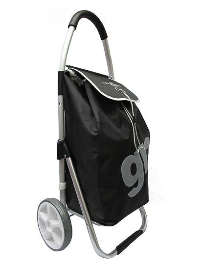 ad7dc72cb60b GNA Heavy Duty Aluminum Shopping Trolley, Black