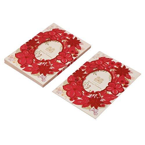 e Flores de Papel la boda del Partido nupcial de la ducha tarjetas de invitación de la Cena DE 10 sistemas ()