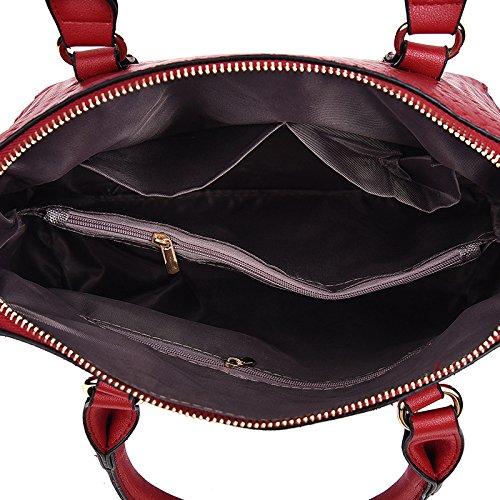 En En Relieve De De Hombro De Bolso De Cocodrilo Moda Gran Bolso Moda De Mano Capacidad Clásico Black Bolsos BwECaCq