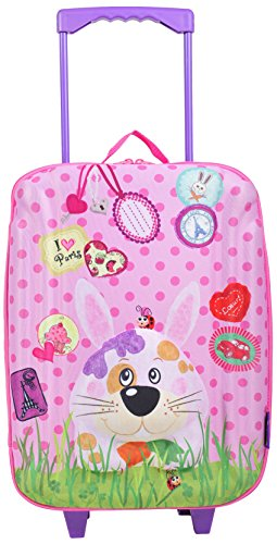 okiedog wildpack 80162 trolley grande para niños con motivo 3D HIPOPÓTAMO, turquesa LIEBRE rosa