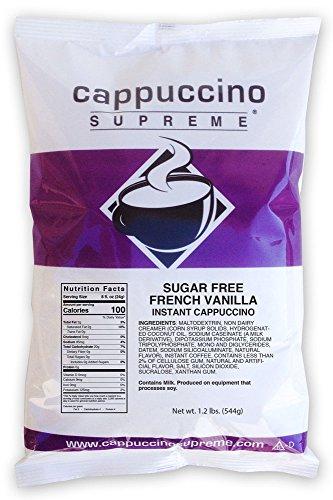 (Cappuccino Supreme 1.2 lb bag Sugar Free French Vanilla Instant Cappuccino Mix)