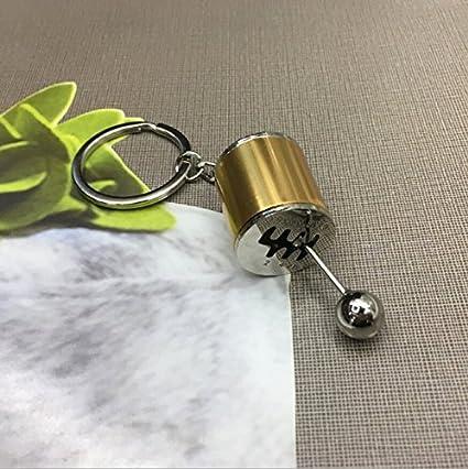 YONGYAO Analógico Coche Palanca De Cambio De Engranaje Modificada Cabeza Llavero Anillo Libremente Convertible Modificado Llavero