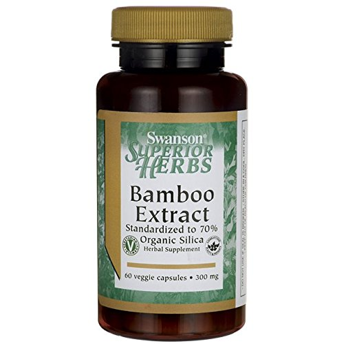 Bamboo Extract 300 mg 60 Veg Caps (World Organic Bamboo Extract compare prices)