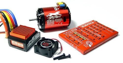 - SKYRC Cheetah 2590KV 13.5T 240watts Sensored Brushless Motor and CS60 60A ESC Combo Set for 1/12 and 1/10 Scale Car Electric Speed Controllers Support Both Sensor or Sensor-less Brushless Motor