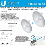 Ubiquiti PBE-M2-400 2-PACK PowerBeam M2 18dBi 2.4GHz airMAX 400mm 20km+ PoE