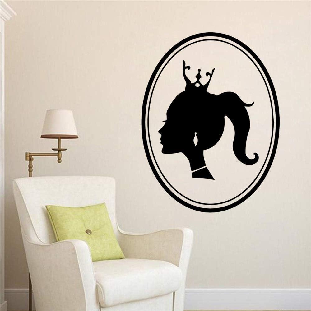 wZUN Personalizado salón de Belleza Mujer Etiqueta de la Pared Vinilo Etiqueta de la habitación de los niños Papel Tapiz Arte Pared decoración del hogar 58x75cm