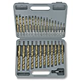 Tooluxe 10055L Titanium Hex Shank Drill Bits with Quick Change Design | ...