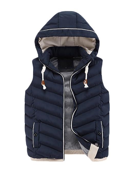 3 opinioni per CeRui Uomo Moda Inverno Spesso Casual Gilet Con Cappuccio Giacca Imbottita