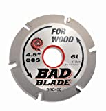 KwikTool USA BBC450 Bad Blade Carver 4-1/2''  6 Tooth With 1'' Arbor And 7/8'', 5/8'', And  20mm Reduction Rings