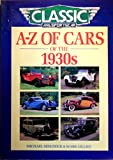 img - for A-Z of Cars of the 1930s book / textbook / text book