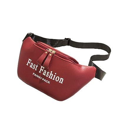 Amazon.com: Bolsas de piel de un bolsillo para mujer, estilo ...