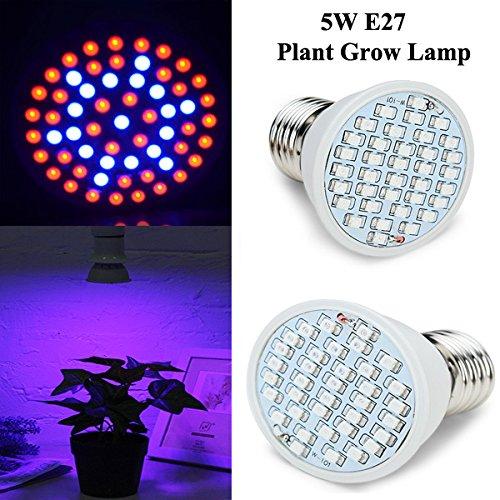 Bluelover 5W E27 Lumière De Jardin Plante Croissance Ampoule Led À Effet De Serre Plant Semis