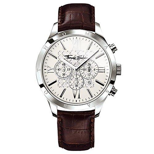 Reloj Thomas Sabo Hombre Rebel Urban Silver Marrón Cuarzo analógico