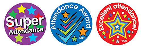 Attendance Stickers - Sticker Solutions Attendance Award Stickers (Pack Of 54)