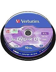 Verbatim DVD+R DL 8,5GB 8X Spindel. 10 Stück geen info