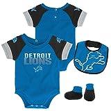 NFL by Outerstuff NFL Detroit Lions Newborn & Infant 50 Yard Dash Bodysuit, Bib & Bootie Set Crimson, 12 Months