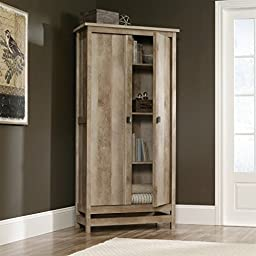 Sauder Cannery Bridge Storage Cabinet in Lintel Oak