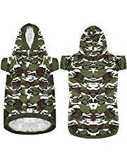 Maysunday Pet Dog Casual Camouflage Hoodie Large Dog T-Shirt Short Sleeves Pullover Shirts Clothing with Velcro XL/2XL/3XL/4XL/5XL