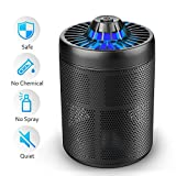 DOUHE Bug Zapper, Mosquito Killer Trap - Mosquito Trap Light Electric Insect Killer UV LED Lamp Physical Mosquito Repellent No Radiation,Indoor Use Only,Black Color