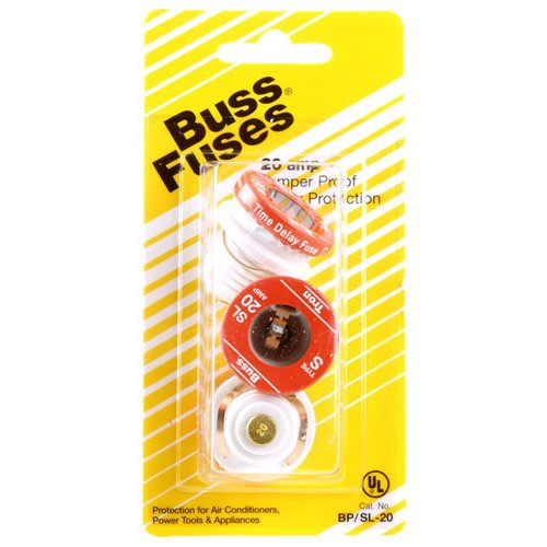 Bussman BP/SL-20 20 Amp Tamper Proof Plug Fuses 3 Count