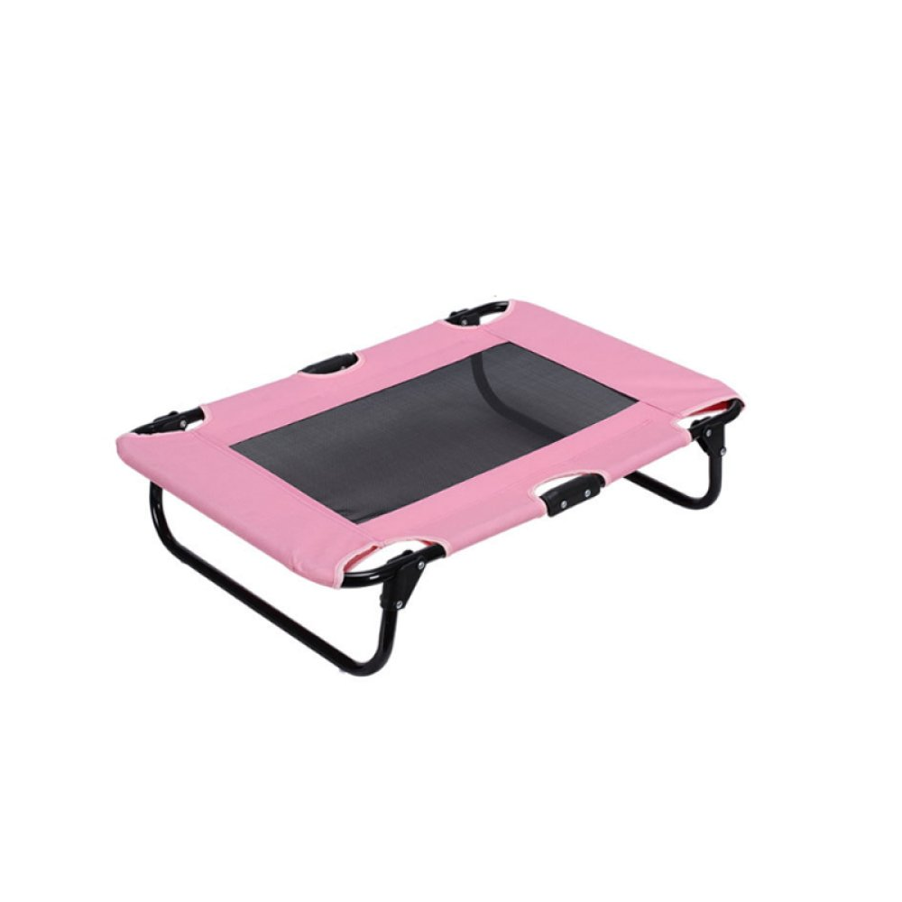 Pink AYCC Overhead Pet Bed Cat Dog Portable Camping Bed Travel Gear Steel Frame Pet Supplies Three colors Available,Pink