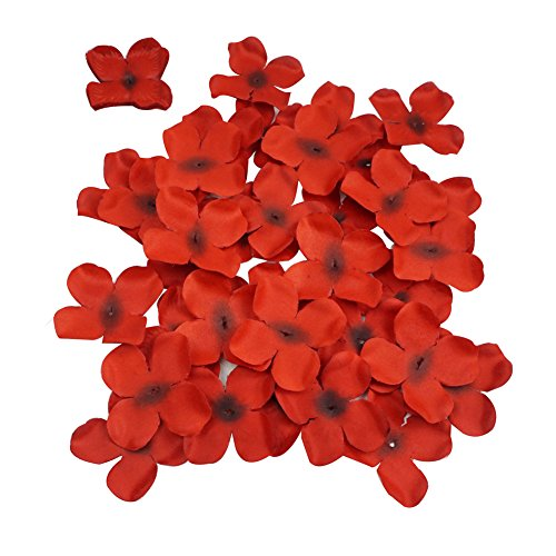 Hydrangea Flower Petals, Colorfulife Artificial Silk Pincushion Petal Flowers Bridal Favors for Wedding Party Decoration DIY Supplies Centerpieces Confetti (515, 6# Red) from Colorfulife