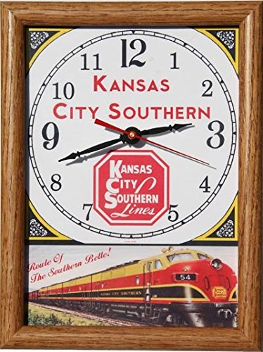 "Kansas City Southern ""Southern Belle"" Wood Framed Clock for sale  Delivered anywhere in USA"