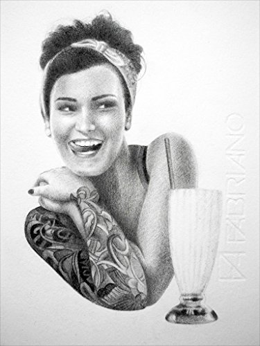Milk Shake Girl (50s Tattoos)