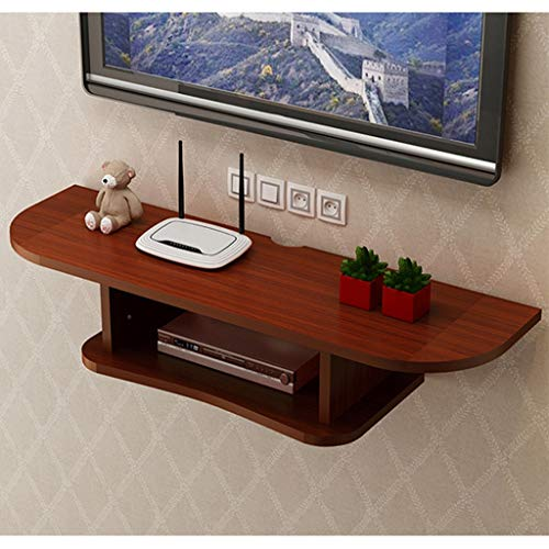 Floating Wall Mounted TV Stand Wall Media Console Desk Wall Hutch Storage TV Cabinet with Open Storage Shelf TV Console Component Shelf for Blu-Ray Players/Video Game Consoles/Cable Boxes/Speakers