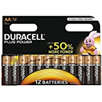 Duracell Plus Power AA Alkaline Batteries, Pack of 12, 1.5 Volts LR06 MX1500 (Packaging May Vary)
