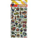 FIREMAN SAM - LARGE Fun Foiled Sticker Sheet