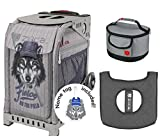 Zuca Sport Bag - Fierce on the Field with Gift Lunchbox and Seat Cover (Gray Frame)