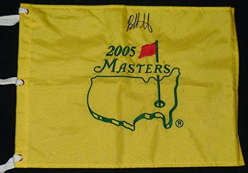 Bubba Watson Autographed 2005 Masters Golf Flag (2x Champion) W/Proof! - Autographed Golf Pin ()