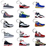 (#AJ15Pack) Jordan Basketball Sneakers Keychain Ringkey Collection Value Pack