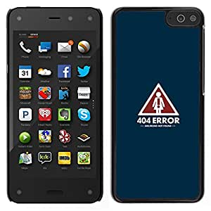 MOBMART Slim Sleek Hard Back Case Cover Armor Shell FOR Amazon Fire Phone - 404 Error - Girlfriend Not Found - Funny