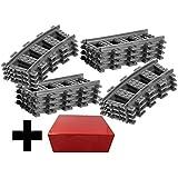 8 binari diritti + 8 binari curvi - Binari Lego diritti e curvi, Treno City RC