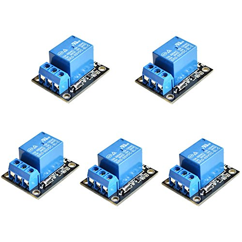 CHENBO 5pcs/lot 5V 1 Channel Relay Module Board Shield for ARM PIC AVR MCU for Arduino Relay Board (Ttl Relay Board)