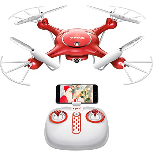 DoDoeleph Syma X5UW Wifi FPV 720P HD Camera Quadcopter Drone with Flight Plan Route App Control & Altitude Hold Function With Extra Battery