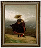 Historic Art Gallery the Girl I Left Behind Me 1870 by Eastman Johnson Framed Canvas Print, 20'' x 24'', Gold Lined