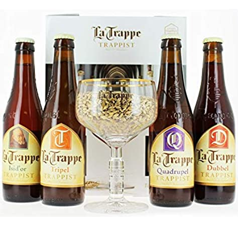 Cerveza Especial Trapense La Trappe Dubbel 4X33 Cl + Copa: Amazon.es: Alimentación y bebidas