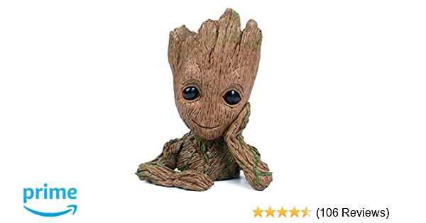 f61ce89c Amazon.com: Baby Groot Flowerpot with Water Beads, The Guardians of Galaxy  Flower Pots Cute Baby Action Figures Model Toy Pen Pencil Holder PVC  Planter: ...