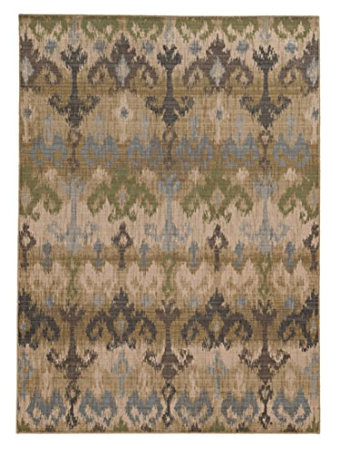 "picture of Tommy Bahama Vintage 8122W Abstract Beige/ Blue Area Rug (6'7"" X 9'6"")"