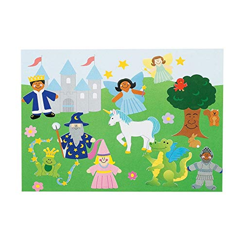 (12 Sets ~ Design Your Own Fairy Tale Scene Stickers & Backgrounds )