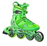 K2 Skate Men's V02 100 X Pro Inline Skates, Green/Yellow, 13