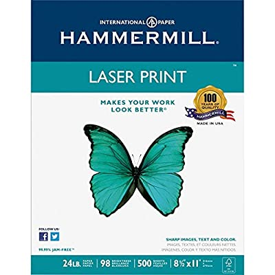 Hammermill Paper, Laser Print, 24lb, Made in the USA