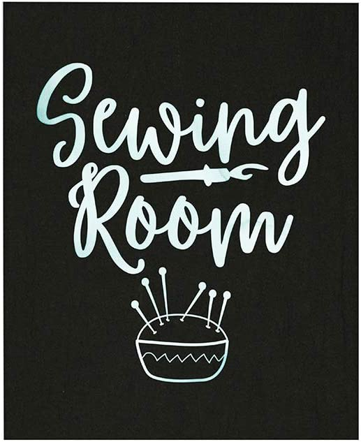 Sewing Room Wall Art, 8x10 Unframed Art Print, Ideal for Sewers, Dressmakers, Craft Lovers, Seamstress, Home Workplace or School Decor